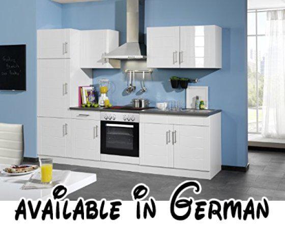 B00AJGXU20  Held Möbel 6456033 Küchenzeile 270 in Hochglanz-weiß