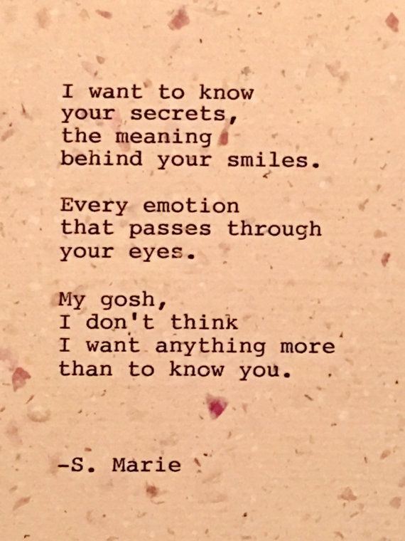 What i want in a relationship poem