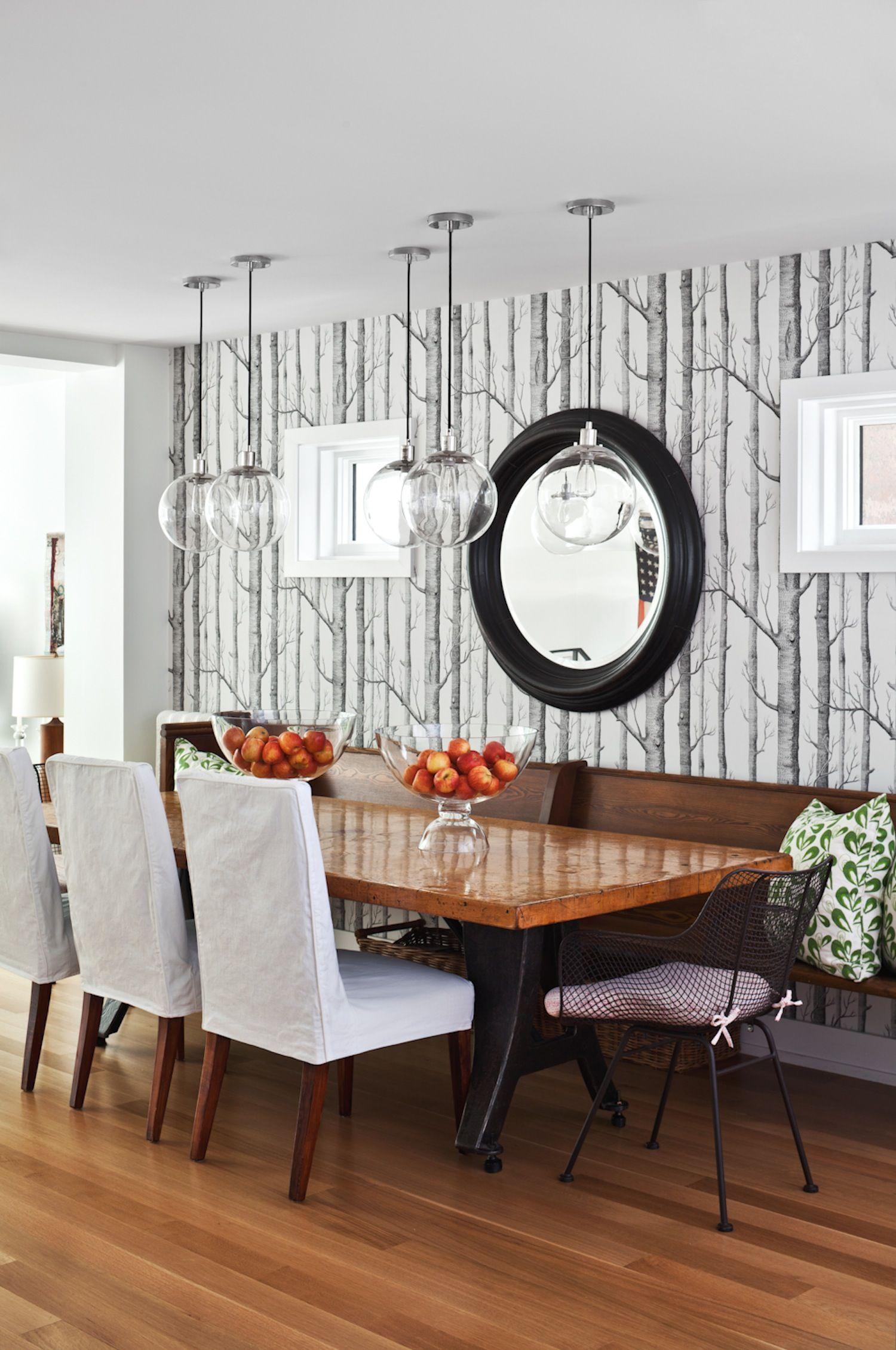 Tree Design Wallpaper Living Room: Jennifer Worts Design Inc. Portfolio
