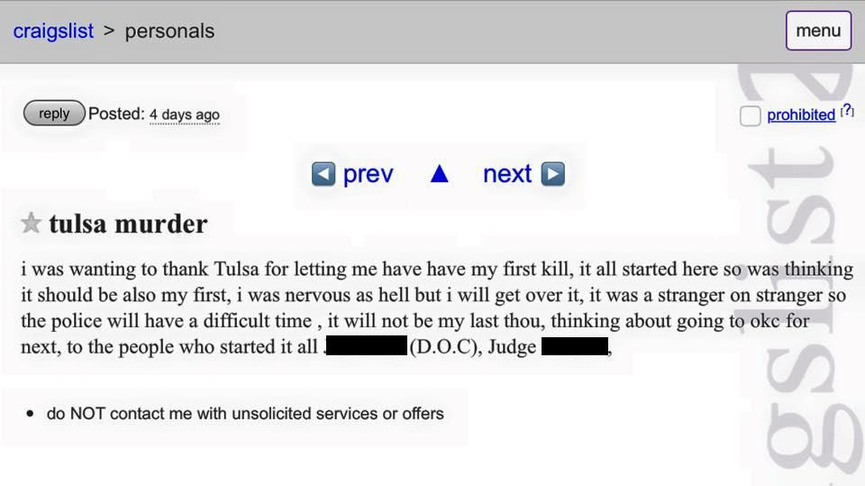 Craigslist Tulsa Personals
