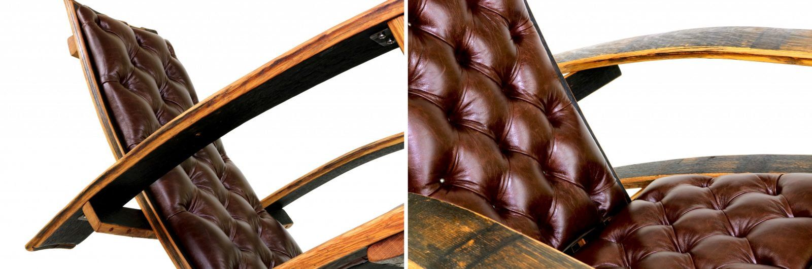 A Rocking Chair Made From Reclaimed Bourbon Barrels The