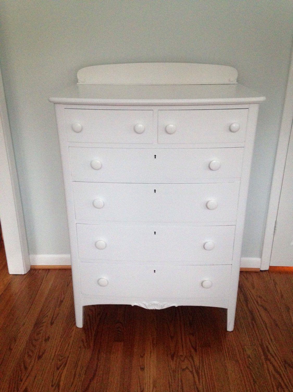 Hold For Amy Tall White Dresser Etsy White Dresser Tall White Dresser Solid Wood Dresser [ 1500 x 1125 Pixel ]