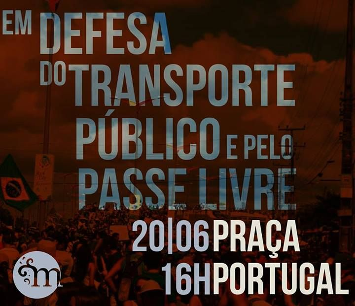 Manifestação na Praça Portugal hoje em fortaleza