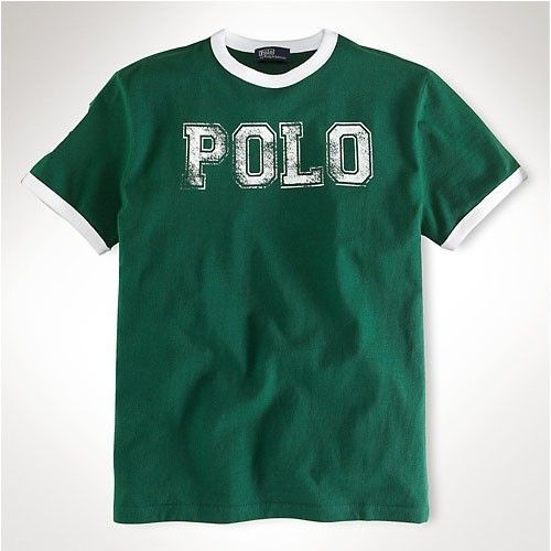 Discount Ralph Lauren 1051 Polo RL Tee In Green