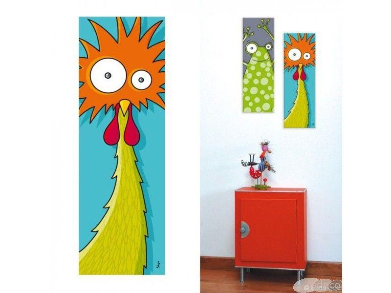 tableau t te de dindons 20 x 60 cm acte deco dessin pinterest dindon tete de et en t te. Black Bedroom Furniture Sets. Home Design Ideas