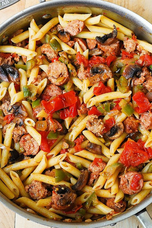 Delicious Easy To Make Meal Italian Sausage Pasta W