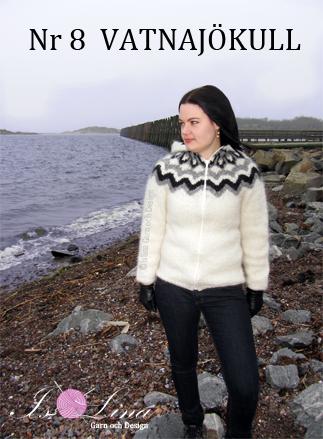 52a85060 Mönster - VATNAJÖKULL - Isländsk kofta med luva - Nr 8 | Sticka och ...