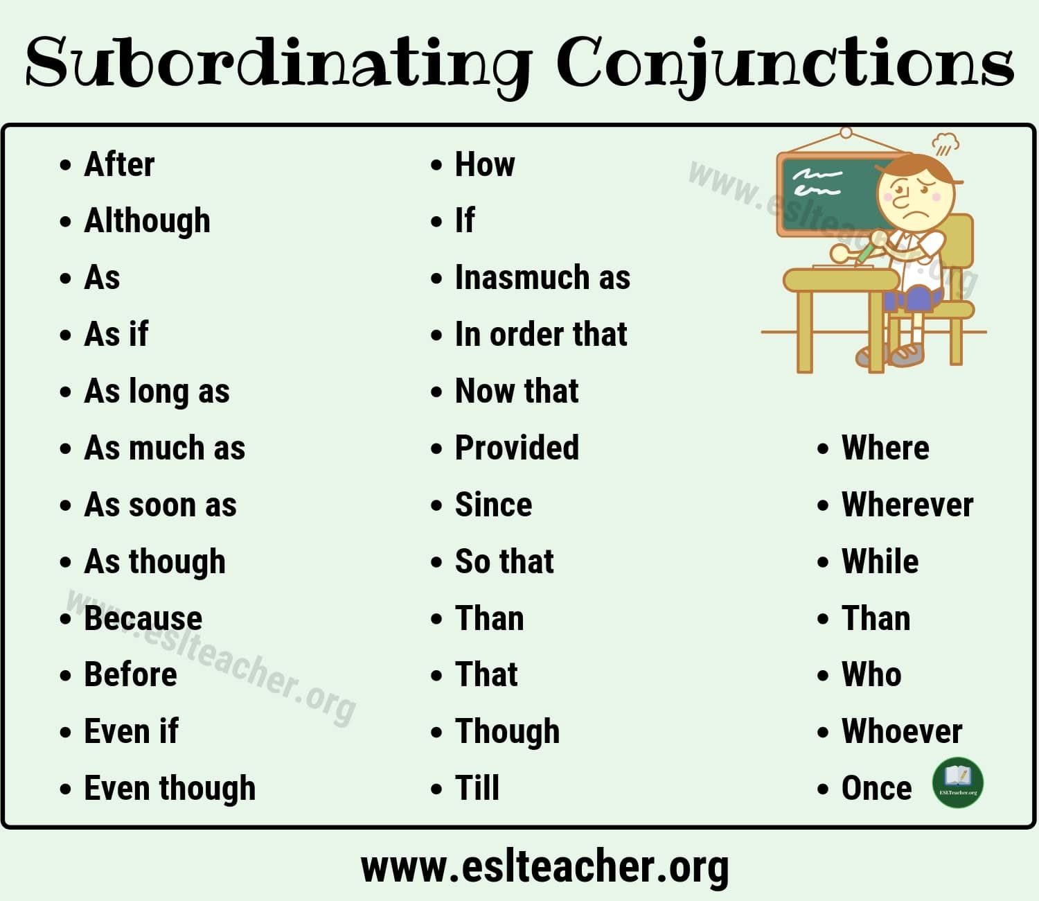 Subordinate Conjunctions Worksheet   Printable Worksheets and Activities  for Teachers [ 1300 x 1500 Pixel ]