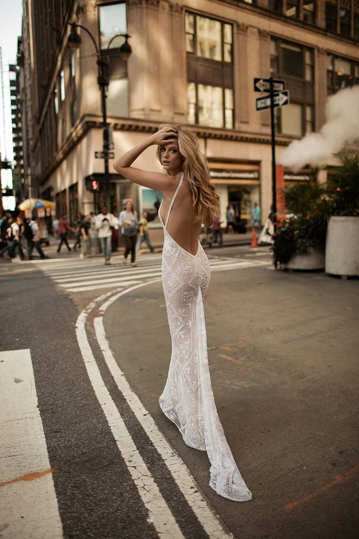 beaded wedding gown with halter neckline wedding dress | itakeyou.co.uk #wedding #weddingdresses #weddingdress #weddinggown #bridalgown