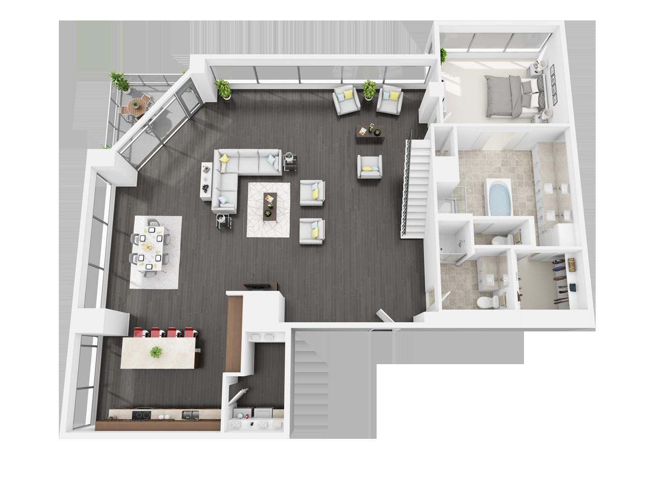 1 2 3 Bedroom Downtown Los Angeles Ca Apartments Diseno Casas Pequenas Planos Para Construir Casas Casas Modernas Interiores