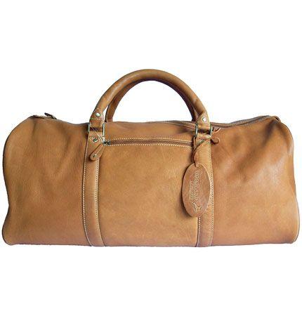 Woodland Leather Tan Leather Holdall Travel Bag  f4b1300e425c4