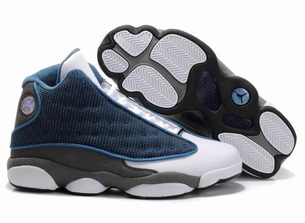 the best attitude 195f9 e68ae nike air jordan 13 (XIII) retro shoes men-navy carolina blue flint grey  white