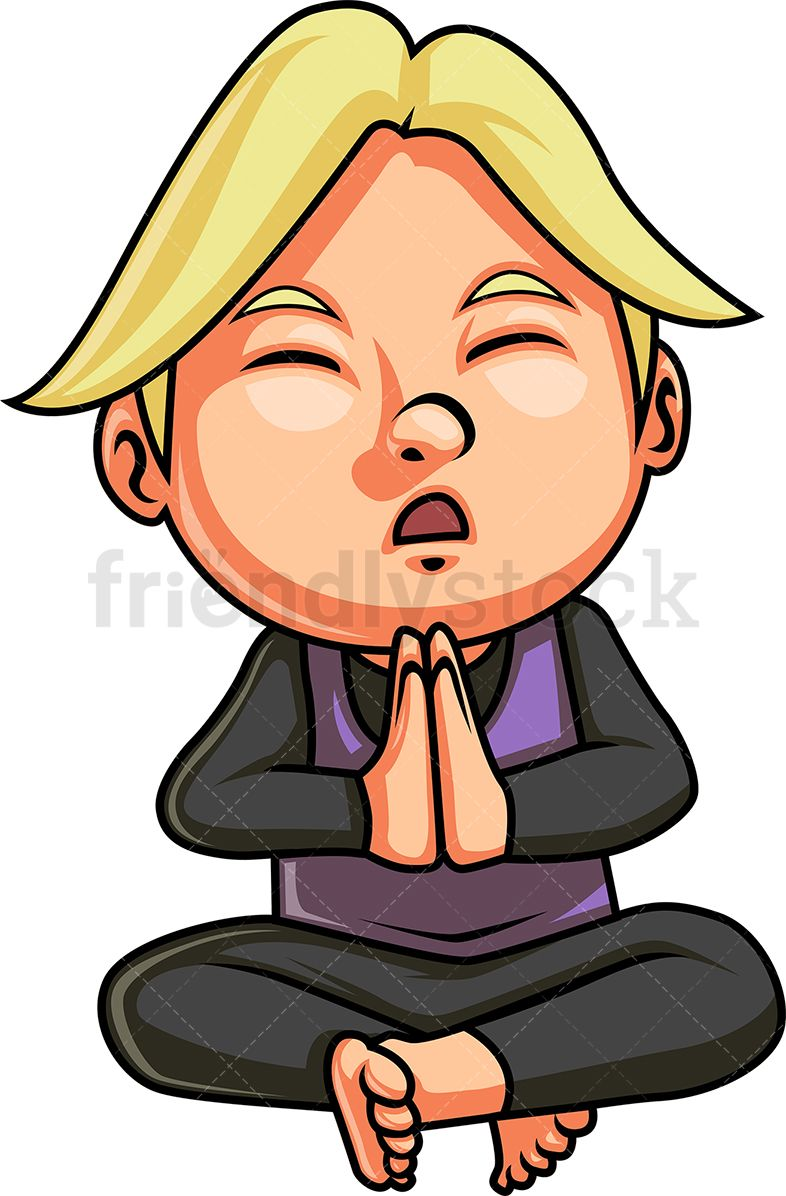 Boy Doing Yoga Meditation Cartoon Clipart Vector Friendlystock Cartoon Clip Art How To Do Yoga Kids Clipart