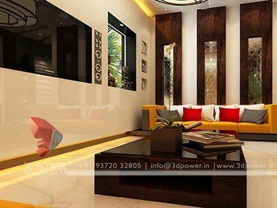 Superb Home Living Room 3d Interior Design