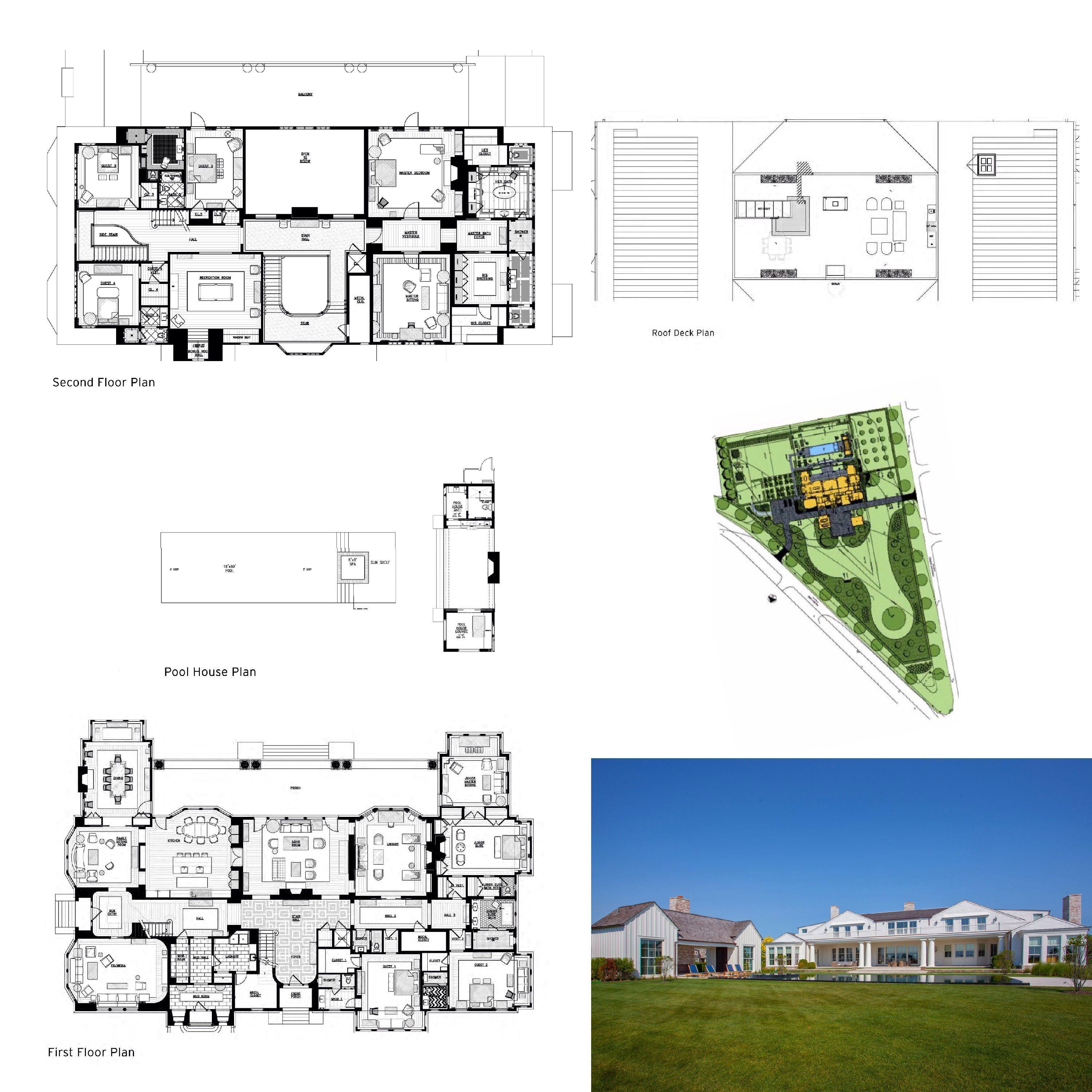 Mecox Farm 41 Halsey Lane Water Mill Mansion Floor Plan Luxury House Plans House Floor Plans
