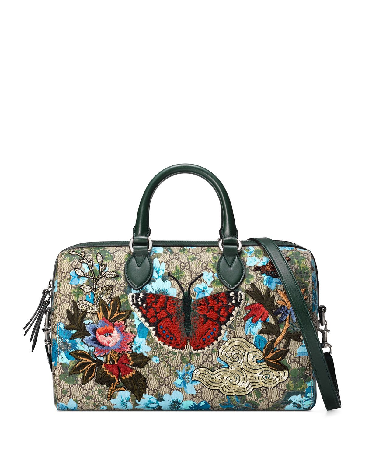 d9b996a93fc Linea A Butterfly Embroidered Boston Bag