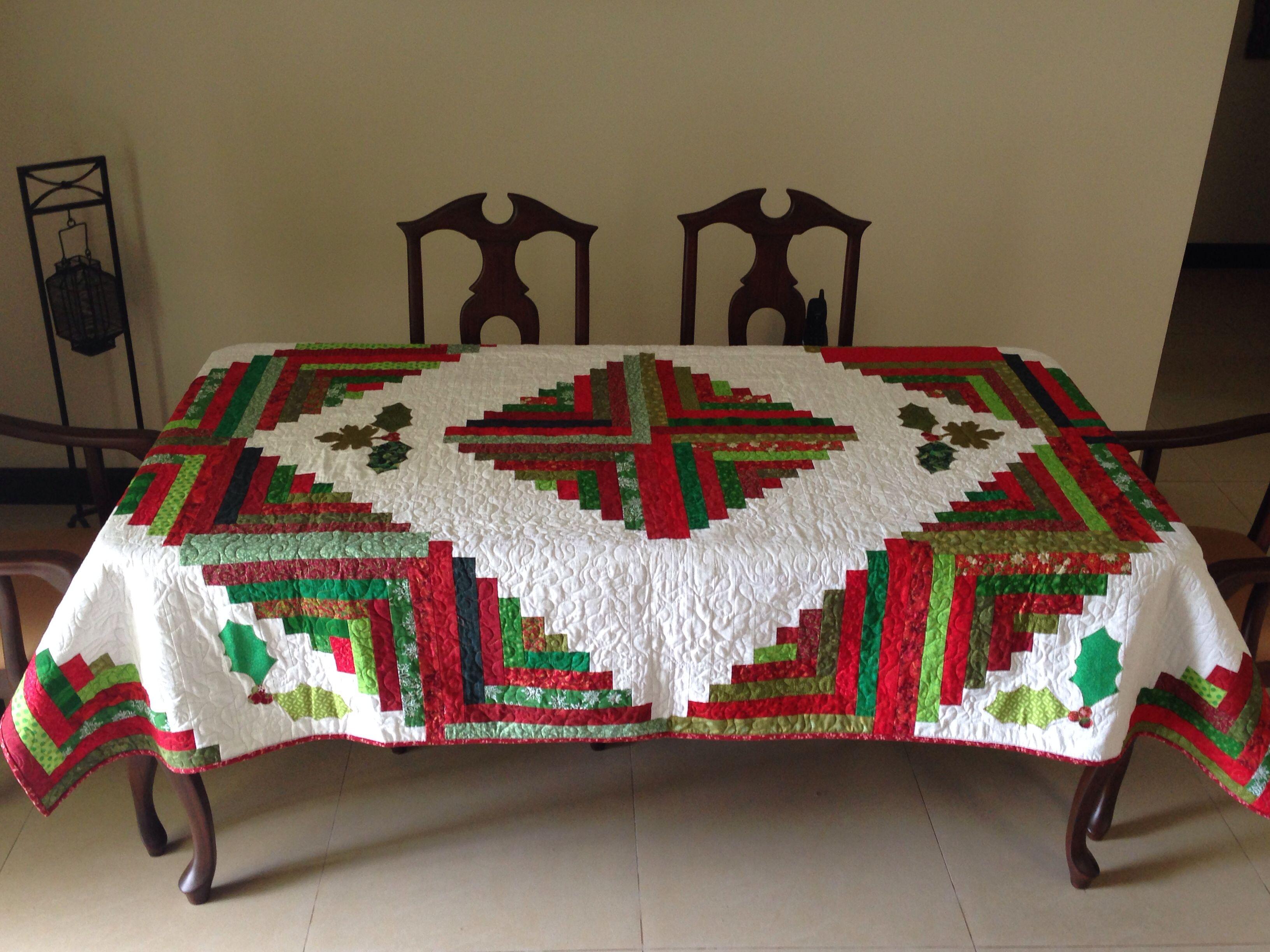 Mantel navide o ideas para el hogar pinterest manteles navide os mantel y caminos de mesa - Manteles navidenos ...