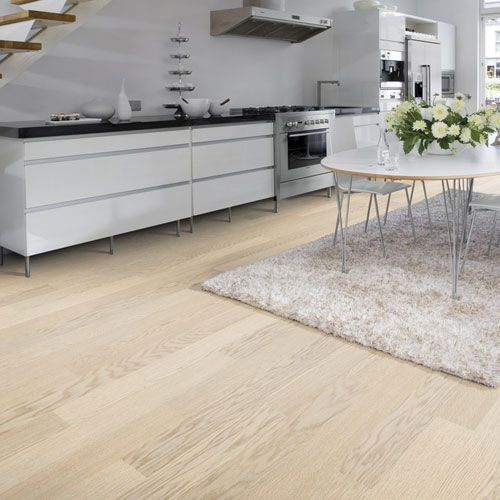 White Washed Oak Floor Boards 1-pin