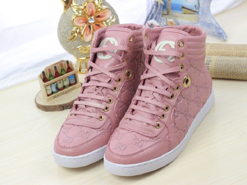 Cheap Fashion Gucci Women High Top Sneakers   buy discount gucci ... 3d0f1c5fb8