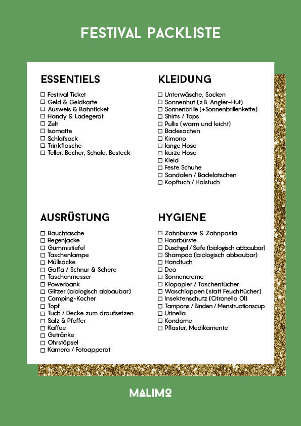 The Ultimate Festival Packing List - For Sustainable Celebration -  The Ultimate Festival Packing List – You won't accidentally go off without a ticket this yea - #Celebration #CelebrityStyle2018 #CelebrityStylemen #CelebrityStylenight #CelebrityStyleparty #Festival #list #Packing #Sustainable #ultimate