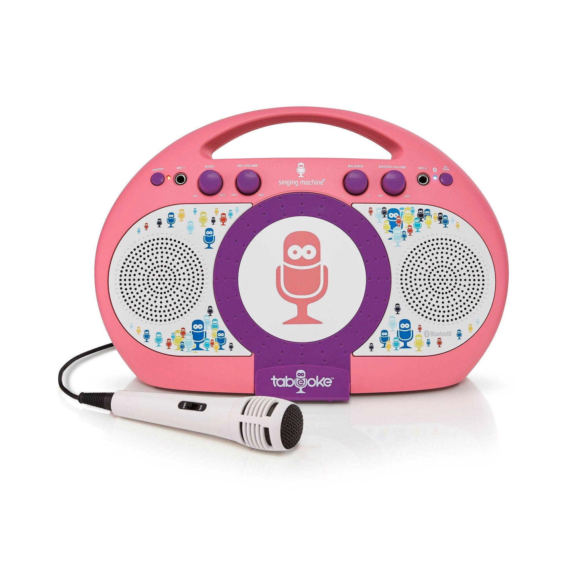 Singing Machine iSM398PP Tabeoke Portable Bluetooth