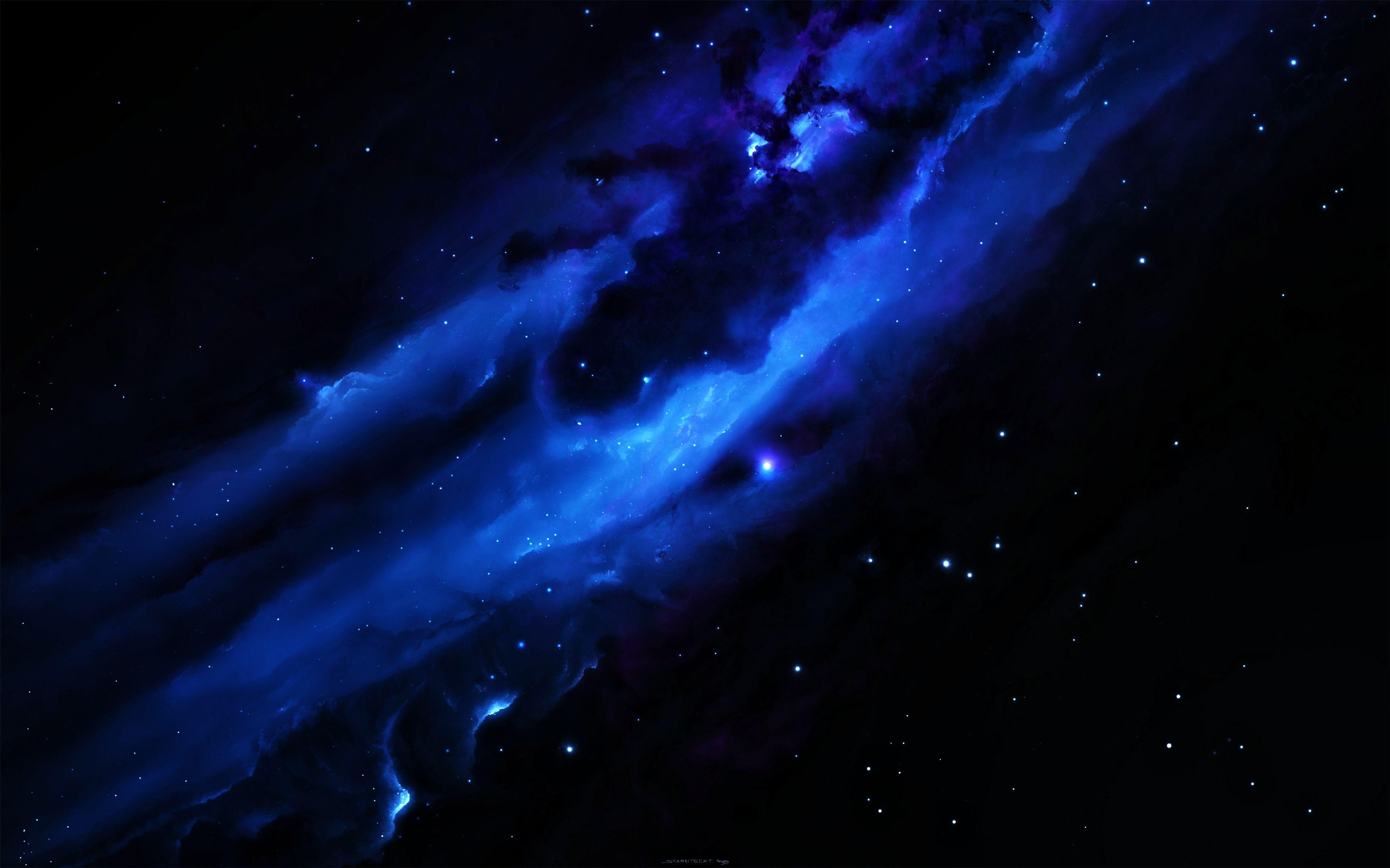Blue Galaxy Computer Wallpapers Desktop Backgrounds 3840x2400 Id 588412 Galaxy Wallpaper Blue Galaxy Wallpaper Space Wallpapers