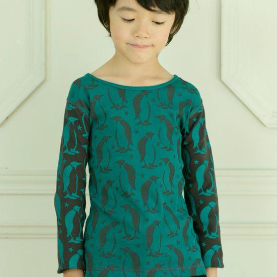 [カラメル] 【2014秋冬30%OFF】EVA & OLi ペンギンロングスリーブTシャツ  サイズ10歳(140cm)