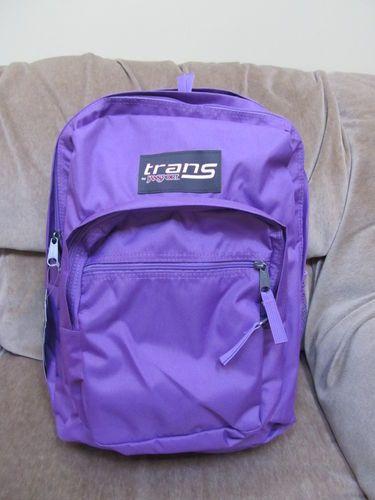 Trans By Jansport Backpack Supermax Purple Slick New Book Bag Lifetime Warranty Ebay
