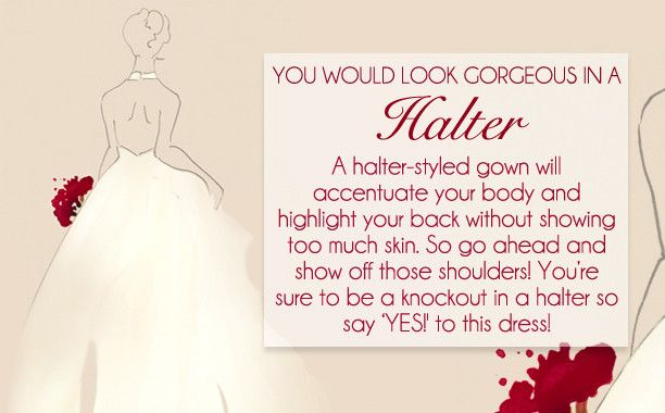 Livingly Thinks I Should Wear A Halter Dress To My Wedding What About You