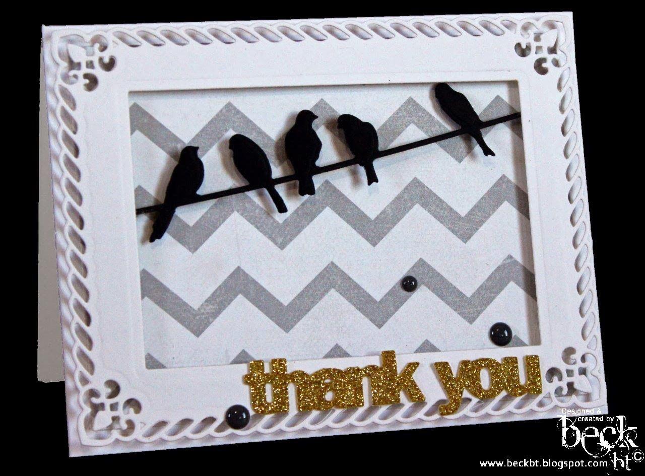Beck BT: Spellbinders Birds on a Wire. | Cards | Pinterest | Bird ...