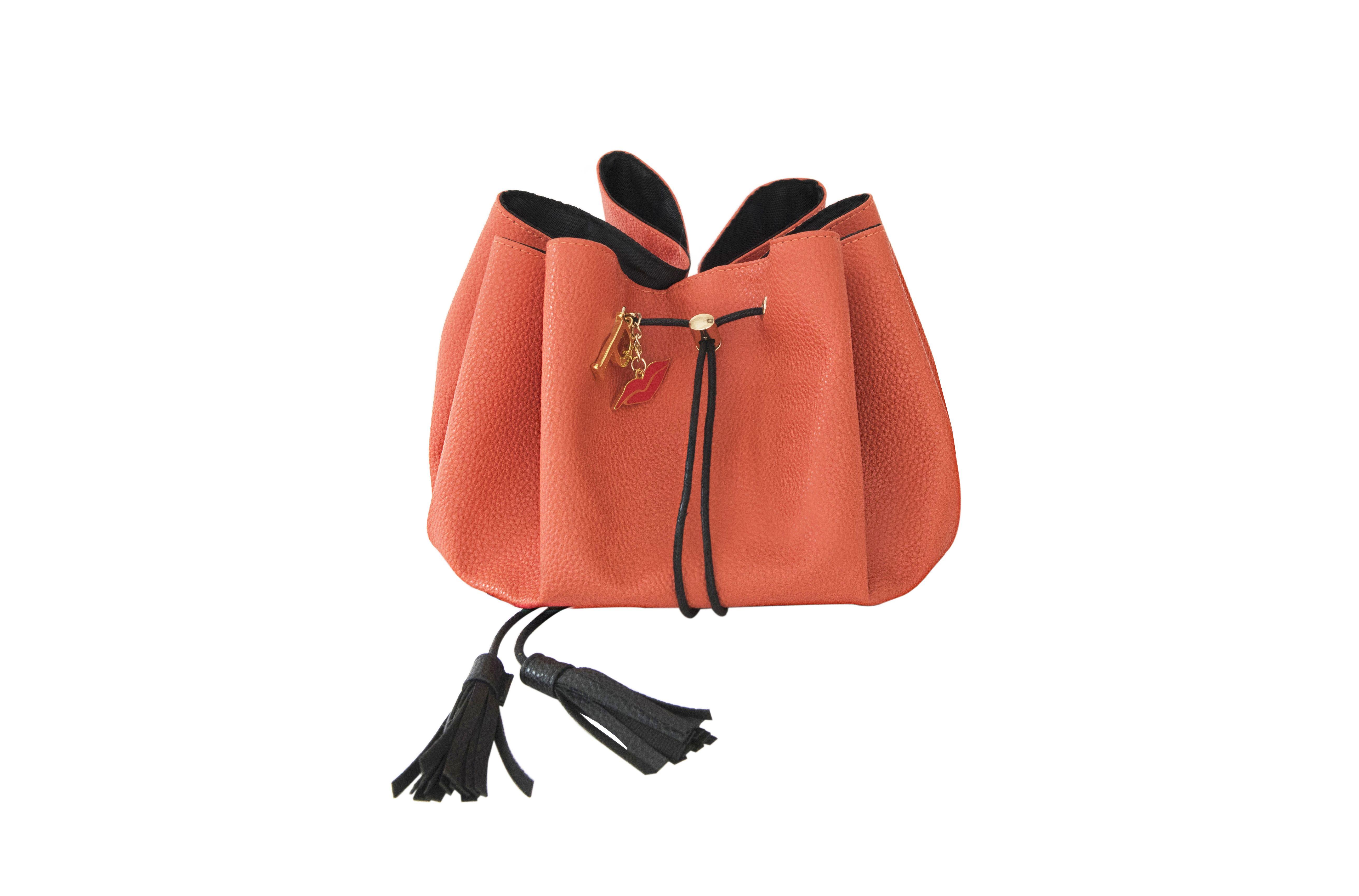 Lady Marmalade Vegan Leather Drawstring Makeup Bag