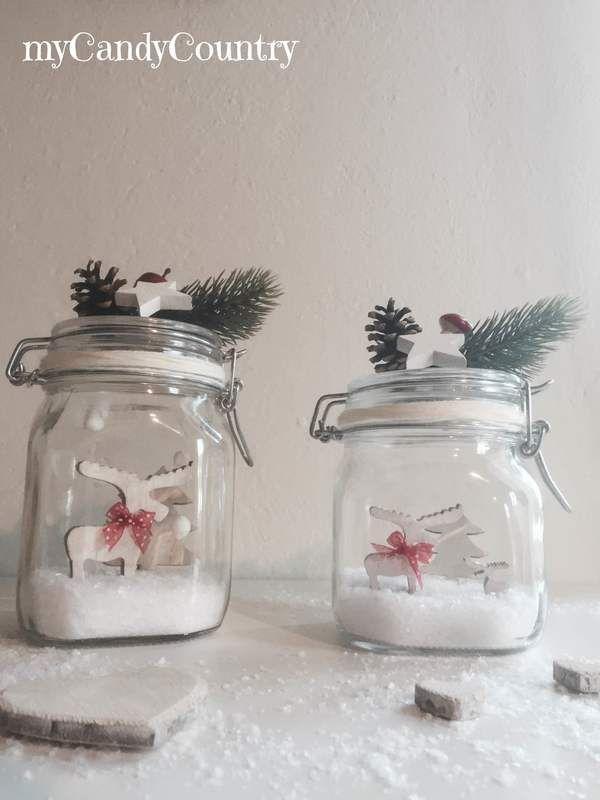 Come costruire snow globe fai da te in barattoli di vetro for Fai da te in casa decorazioni