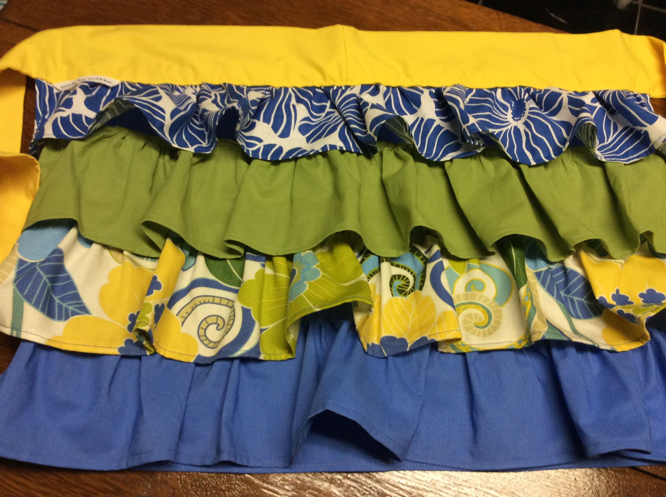 Really fun aprons, homemade by 'So Fun & Comfy by Britta'