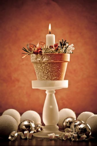 Christmas Candle Crafts For DIY Decor at Ideal Home Garden @Shawna Bergene Fields