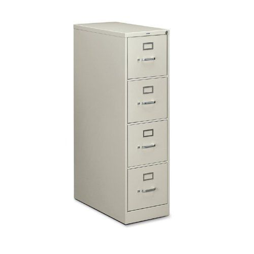 Hon 210 Series Locking Vertical Filing Cabinet 15 X 28 5 X 52 Metal 4 Drawer S Letter Security Lock Ball Bearing Sus Filing Cabinet Cabinet Drawers