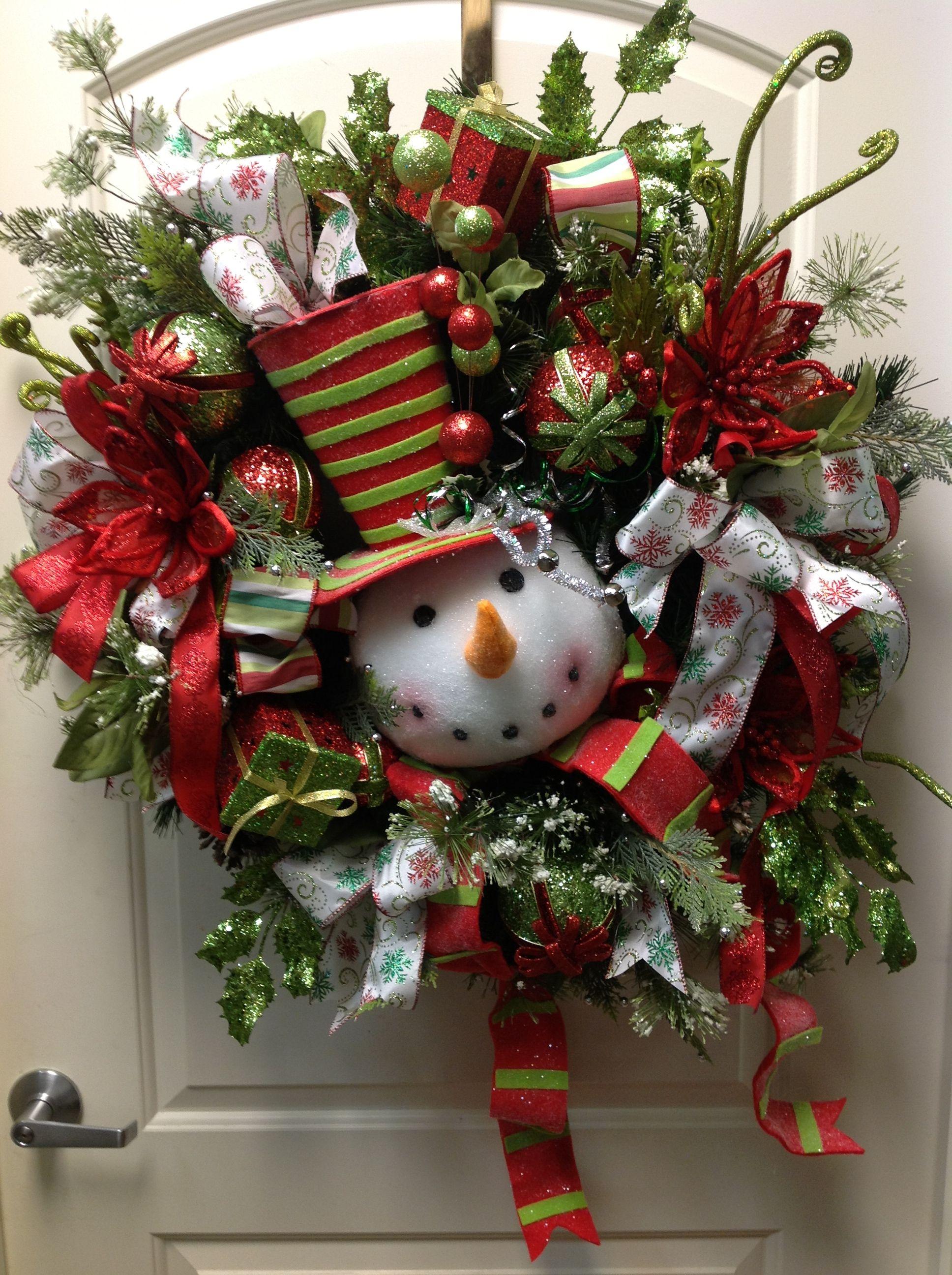 Snowman wreath i love christmas pinterest for Christmas wreath