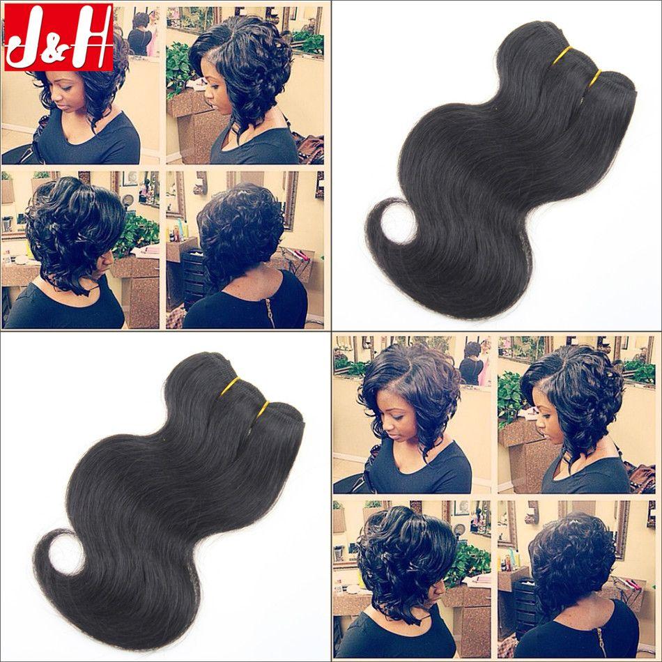 6pcs 300g full head 2016 trendy bob hairstyles 8inch short