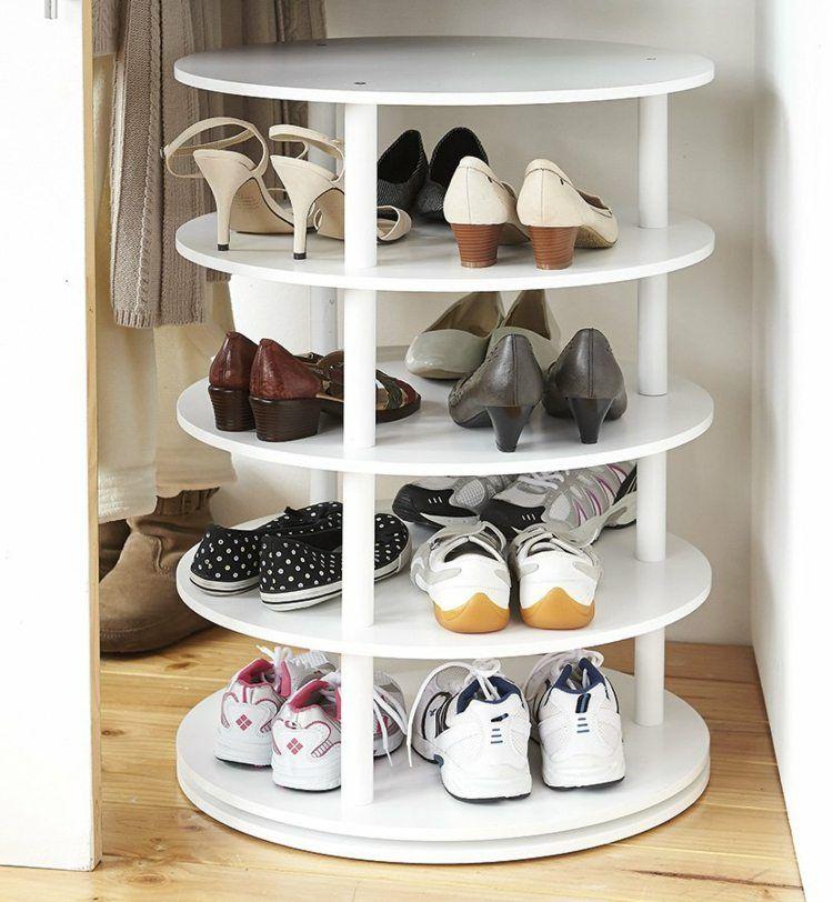 Schuhregal Selber Bauen In Weißer Ausführung