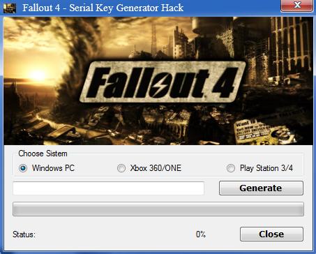 fallout 4 key generator