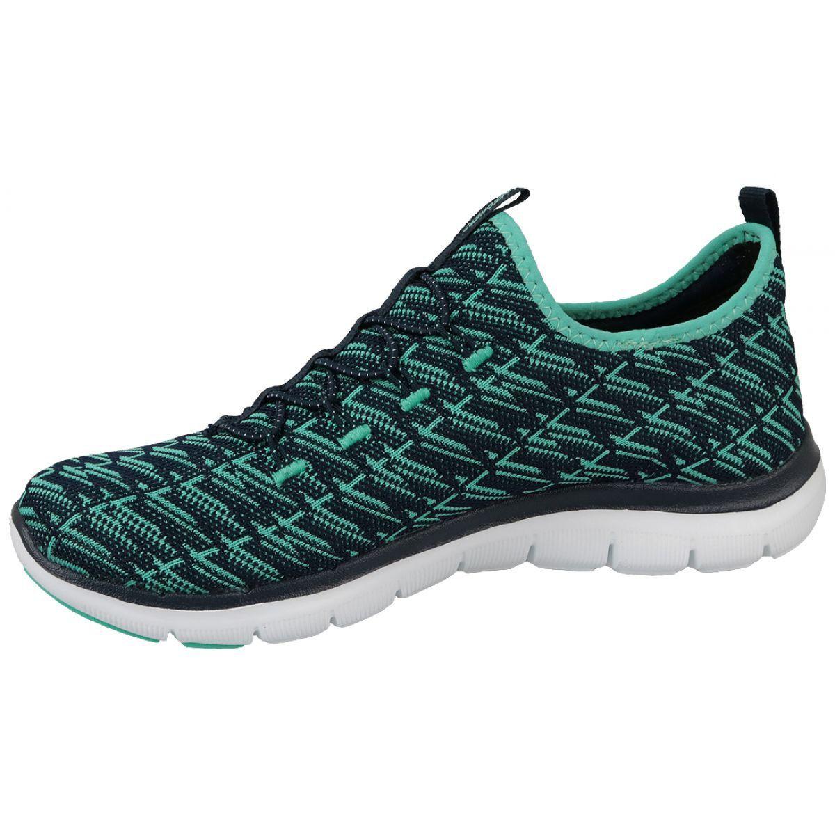 Buty Skechers Appeal 2 0 W 12765 Nvgr Czarne Niebieskie Skechers Sneakers Nike Sneakers