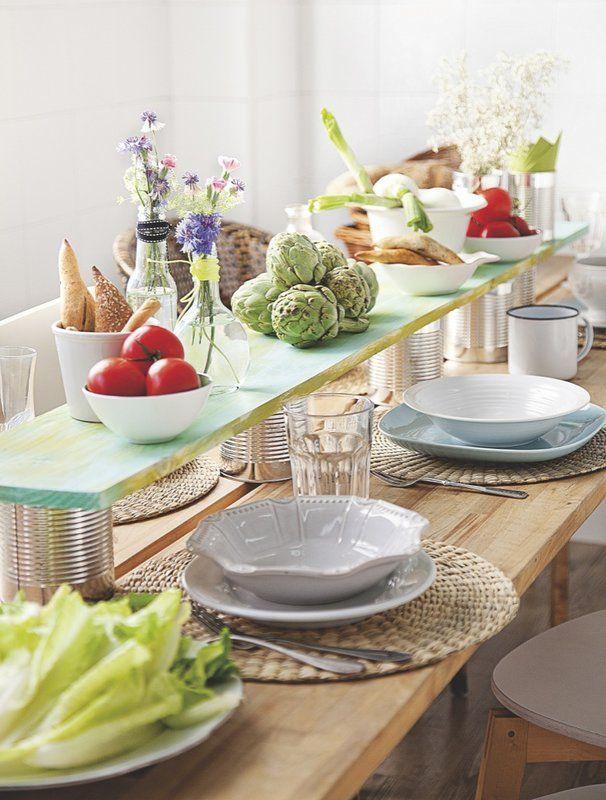 Una mesa de altura   DARE TO DIY (?)   Mesas, Hacer mesa, Decoración ...