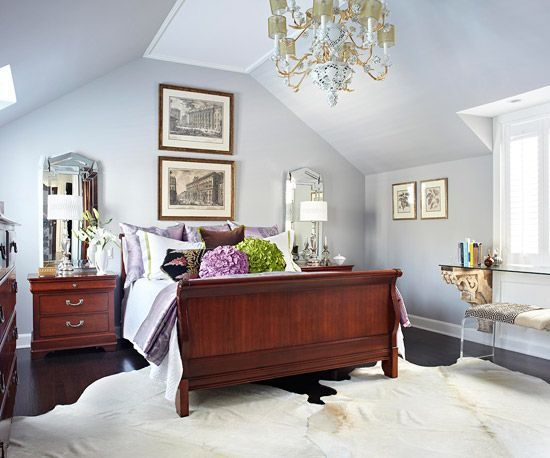 Cherry wood Furniture With Gray Walls | Wood bedroom ...