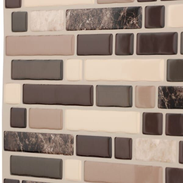 Smart Tiles Bellagio Multi 10 06 In W X 10 In H Peel And Stick