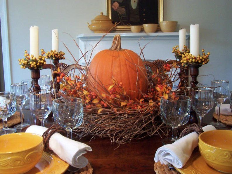 Autumn Berry Wreath Centerpiece Etsy Thanksgiving Table Centerpiece Fall Dining Table Decor Thanksgiving Table Decorations
