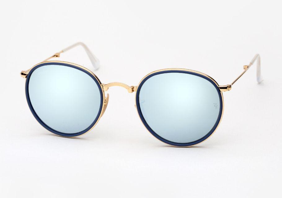 16da32b200c02 Ray-Ban Round Folding Frame Sunglasses