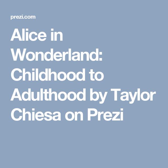 alice in wonderland adulthood