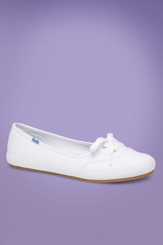 50s Teacup Twill Ballerina Sneakers