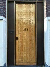 House number in wooden door- House number in wooden door Hous …