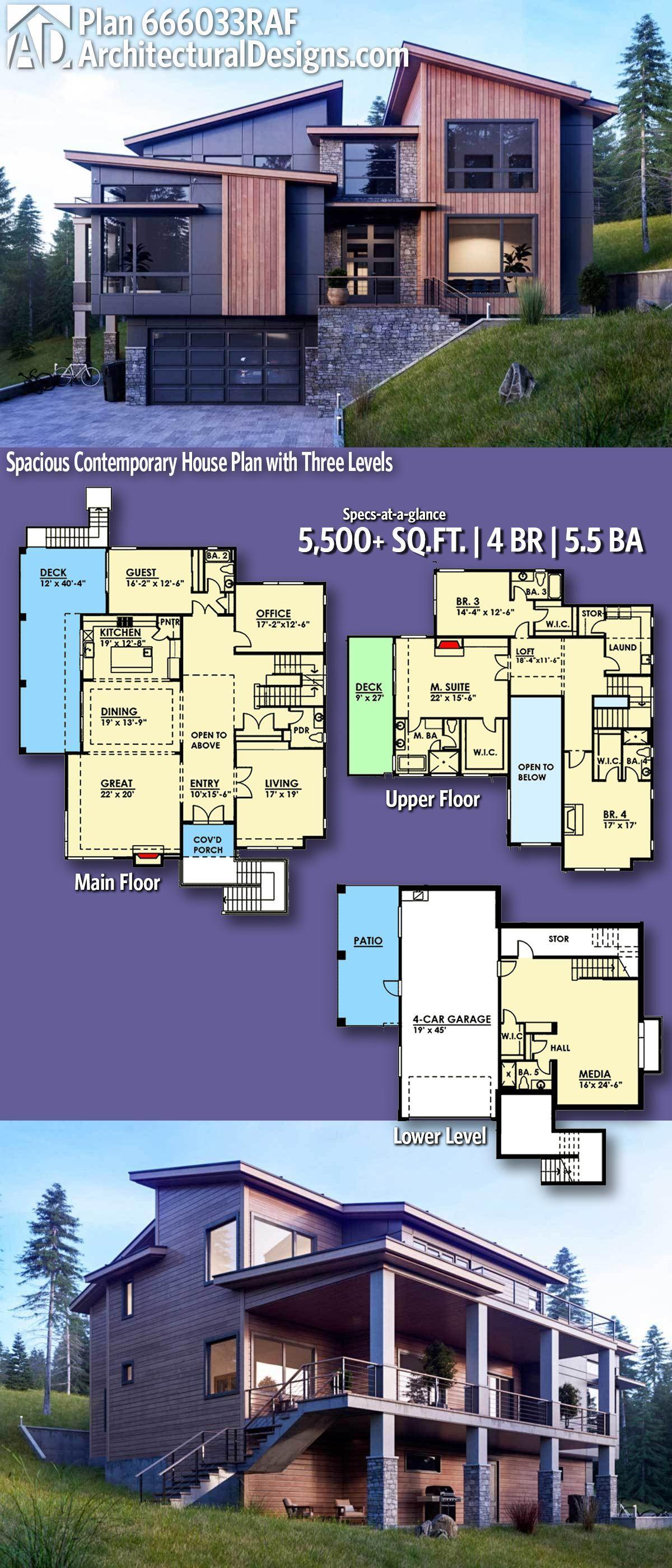 Architectural Designs Modern Plan 666033RAF 4