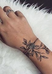 #cat #Cool #Design #flower #Ideas #Tatto